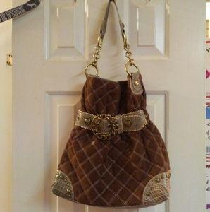 Kathy Van Zeeland Quilted Gathered Handbag